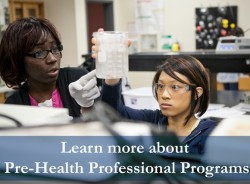 COSM Advisement Center Pre-Health Professional Program Slide