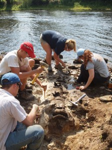 Dr. Smith's students working on Ossabaw Island