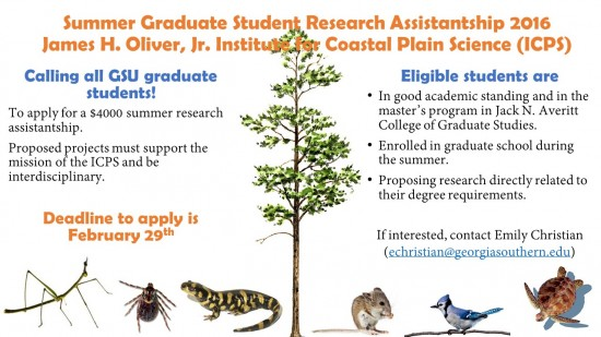 Summer Graduate Student Research Assistantship 2016