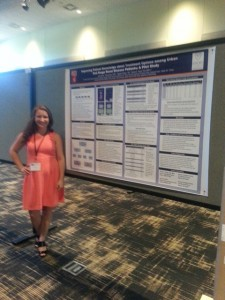 Biology Major Kayla Smith presenting at Emory University, Summer 2014