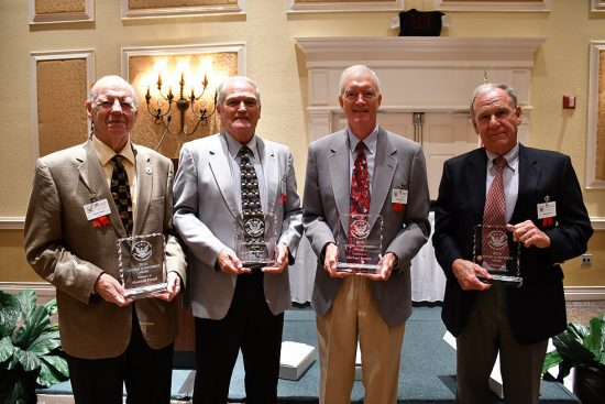 Georgia Southern University alumnus Charles A. Abner ('67) , right, was one of four recipients of the 2016 National Space Club Lifetime Achievement Award by the National Space Florida Committee