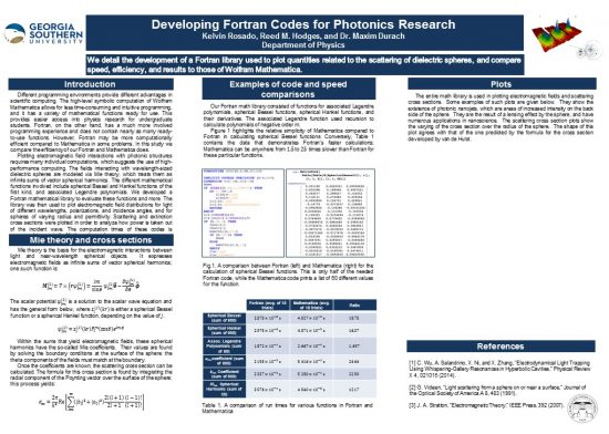 Developing Fortran Codes for Photonics Research