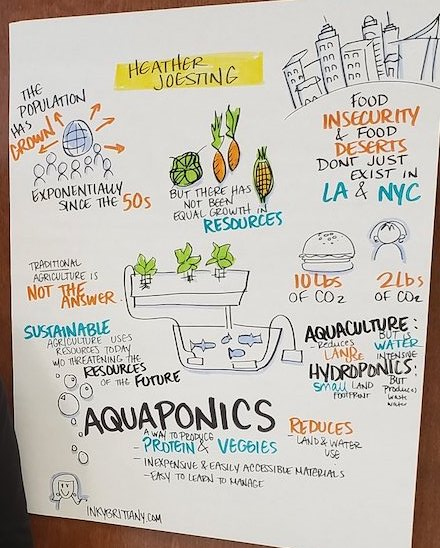 Infographic poster about aquaponics.