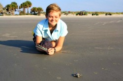Student with Hatchling