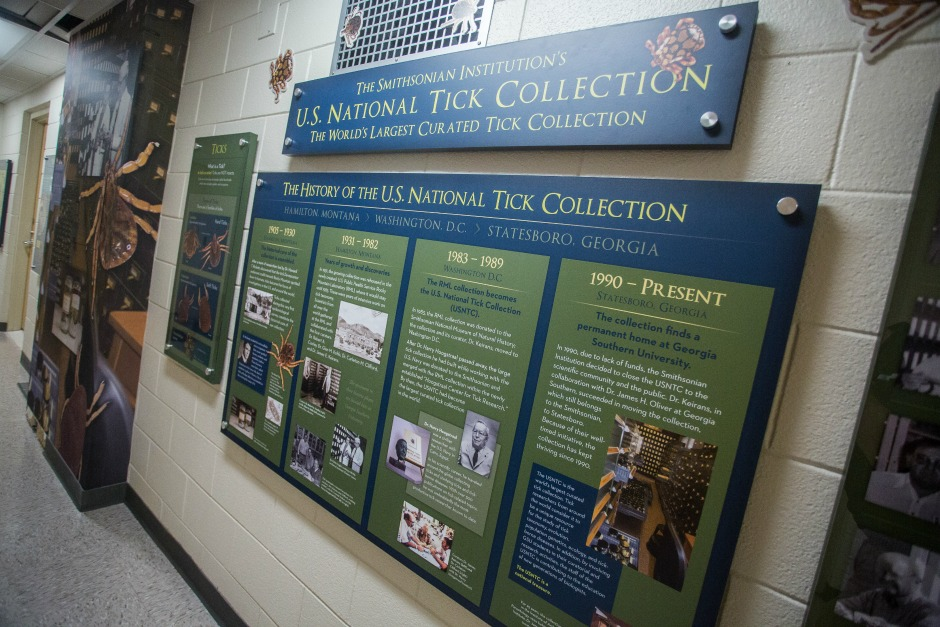 U.S. National Tick Collection permanent exhibit