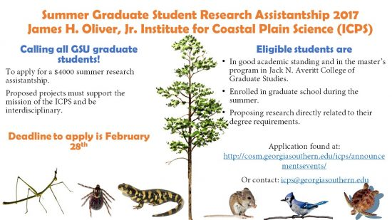 ICPS Summer 2017 Research Assistantships
